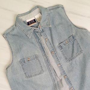 2/$30 ❤ Bill Blass Vintage 1980's Denim Shirt